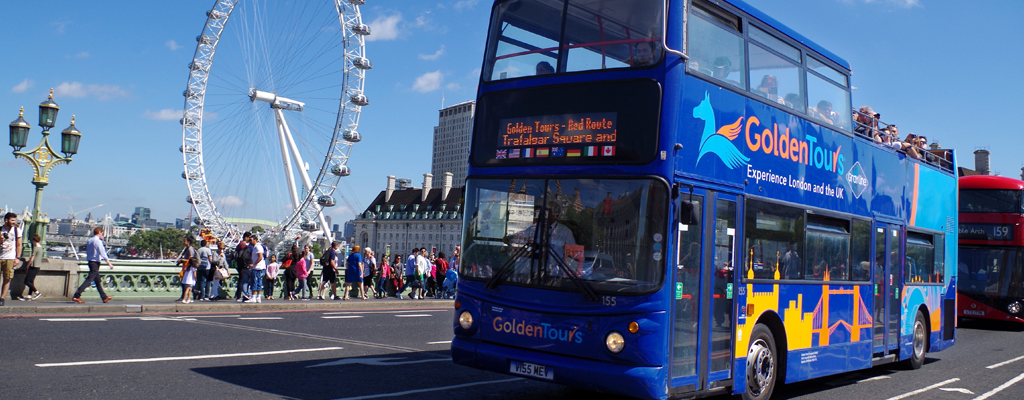 Golden Tours Hop on Hop off Bus and London Eye